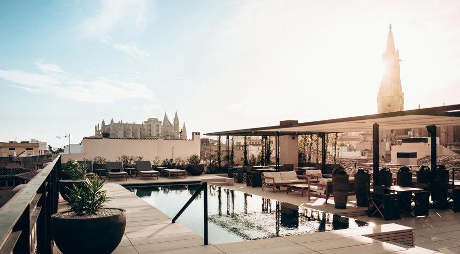 vistas-palma-terraza-hotel-sant-francesc-lujo-centro-ciudad
